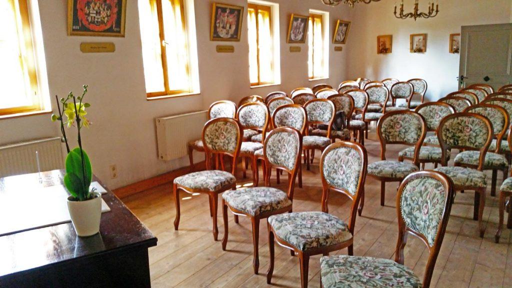 Wappensaal Gutshof Ruhland