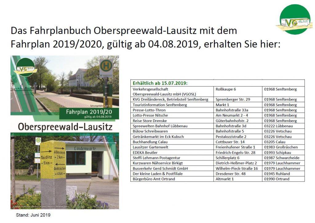 Fahrplanbuch OSL 2019
